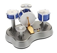 SLW-866 Blue Mini Finger Touch Jazz Drum Music Toy Set (3xAAA)