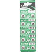 AG3 1.55V Alkaline Cell Button Batteries (10-Piece Pack/2-Pack Set)