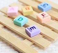 Alphabet A-F Pattern Eraser(6 PCS)