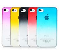 Gradiente de burbujas de color transparente de nuevo caso para el iPhone 4/4S (colores surtidos)