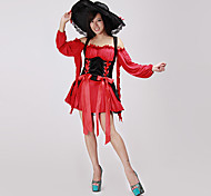Vixen Pirate Wench  In Red And Black Halloween Costume