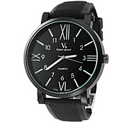 V6® Men's Watch Dress Watch Roman Numerals Dial Silicone Strap Cool Watch Unique Watch