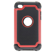 Rugged Impact Hard Case with Interior Silicone for iPod touch 4 (Optional Colors)