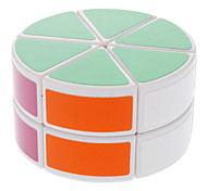 DS-88 Cylinder Shaped Two-Layer Brain Teaser Magic Cube IQ Complete Kit (White)
