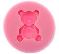 Urso 3d em forma de silicone biscoito bolinho molde