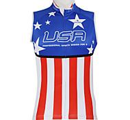 KOOPLUS Bike/Cycling Vest/Gilet / Jersey / Tops Women's / Men's / Unisex SleevelessBreathable / Quick Dry / Waterproof Zipper / Front