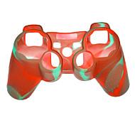 Dual-color de la funda de silicona protectora para el controlador de PS3