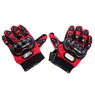 Pro-Biker Outdoor Sports Nylon Full Finger Gloves (Red)