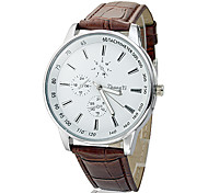 Men's Business Style PU Leather Band Quartz Wrist Watch (Assorted Colors) Cool Watch Unique Watch