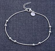 lureme®925 argento sterling placcato braccialetto della sfera lucida