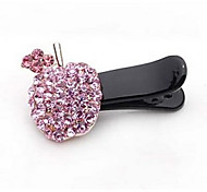 Apple Style Alloy Barrette With Rhinestone For Casual Occasion