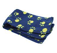 zampe modello carino coperta morbido pile tappetino coperta per animali domestici cani (colore casuale)