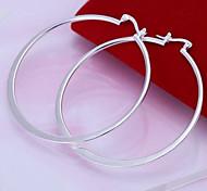 Silver Circle Hoop Earrings