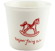 Wooden Horse Ceramic Cup