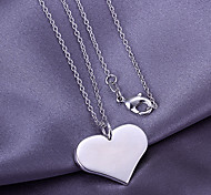 Simple Silver Heart Pendant (Pendant Only)
