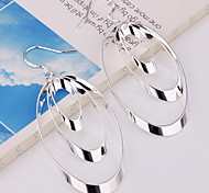 Fashion Oval Alloy  Crystal Earrings