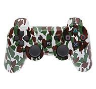 Brown and Green Camouflage Dual-choque Bluetooth V4.0 controlador sem fio para PS3