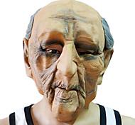 Лысый белый волос маска Старый человек с головой крышка для Хеллоуин костюм участника