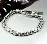 Women's Tennis Bracelet Alloy Rhinestone