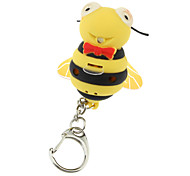 ABS Bee Shaped Keychain with LED & Voice