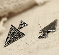 Stud Earrings Alloy Statement Jewelry Punk Silver Bronze Jewelry Daily