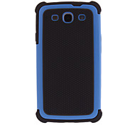 Soft Silicone and Plastic Hard Cover 3 in 1 Hybird Case for Samsung Galaxy S3 i9300