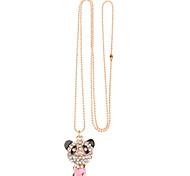 Red Panda Full Diamond Necklace
