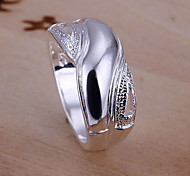 Frosted Glossy X Ring