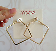 Hoop Earrings Alloy Statement Jewelry Sexy Gold Silver Jewelry Daily