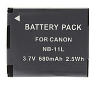 NB-11L Battery for NEW Canon PowerShot A2500 IXUS 140 132 135 (680mAh, 3.7V)