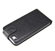 PU-Leder Flip-Cover für iphone 5c-black