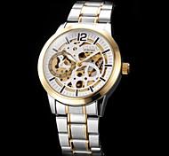 Creux Gravure Auto-mécanique de cadran Steel Band Wrist Watch analogique hommes (couleurs assorties)