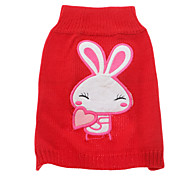 Cute Rabbit with Lovely Heart Pattern Sweater for Pets Dogs (Assorted Sizes)