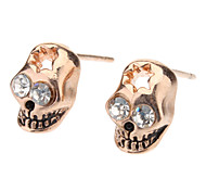 Stud Earrings Skull,Jewelry Golden Gold / Alloy Daily