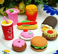Fast-Food-förmige Radiergummisatz (4 Stück)