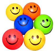 Happy Face Patterned Stress Reliever Rubber Balls(Random Color)