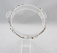 Fashions fishbone With Diamond silver Women`s Bracelet
