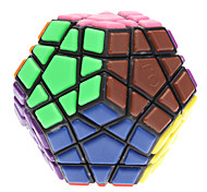 DIY Megaminx Brain Teaser Magic Cube Toy (Black Base)