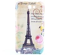 Eiffeltoren Pattern Hard Case voor Samsung Galaxy Note N7100 2