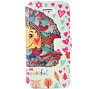 fashion life is beautiful painting Ledertasche mit Halterung & Kartenslots für iphone 5c