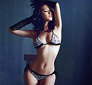 Black and White Zebra Stripe Bikini