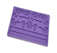 Fondant & Gum Paste Fabric Designs Silicone Mold Flower