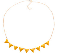 Couleur Fluorescent Orange Triangle de mode de collier