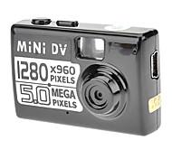 Screen-Free 3.0 Mega Pixels CMOS de détection de mouvement de caméra vidéo (Slot Micro SD / TF) Ultra Mini