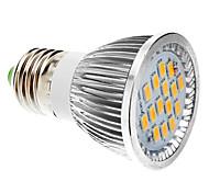e27 6w 5630SMD cálida luz blanca / fresca bulbo llevado al contado (85-265v)