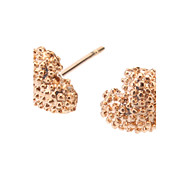Earring Heart Stud Earrings Jewelry Women Daily Gold / Alloy Gold