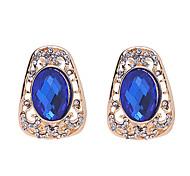 Blu Orecchini di cristallo