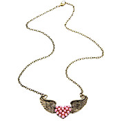 2013 spring new angel wing heart necklace N29