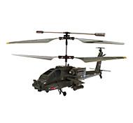 SYMA S109G AH-64 3.5 kanaals infrarood afstandsbediening Mini Helicopter met Gyro (Army Green, 6xAA)