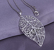 Leaf Shaped Hollow-Out Pendant (Pendant Only)